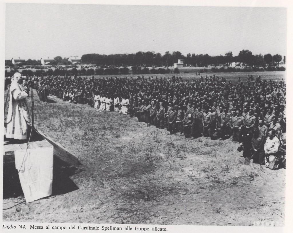 La messa al campo nel 1944