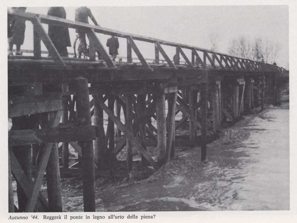 Ponte stradale di legno autunno '44