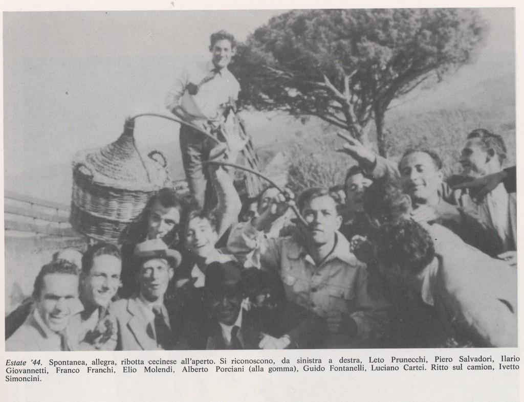 Ribotta all'perto per festeggiare la liberazione Estate '44