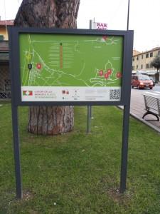 Il pannello-mappa (foto di Catia Sonetti, 2014)